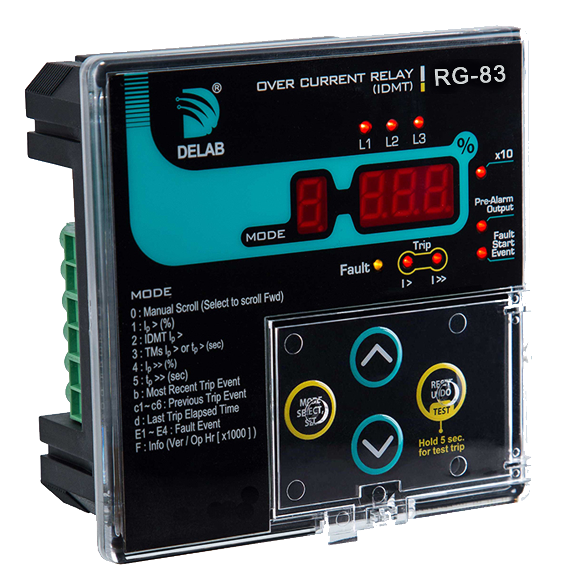 Delab Scientific Earth Protection Relay Digital Microprocessors Electric Idmt Over Current Rg 83