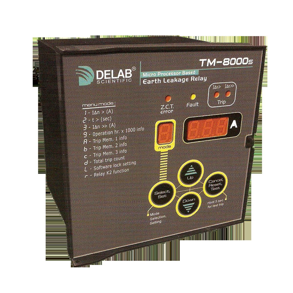 Delab Scientific Earth Protection Relay Digital Microprocessors Leakage Wiring Diagram Tm 8000s