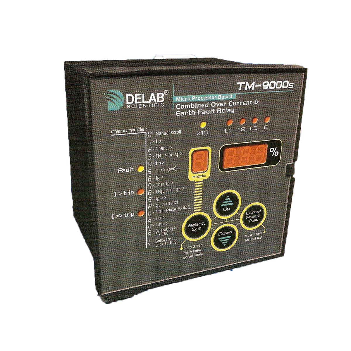 Delab Scientific Earth Protection Relay Digital Microprocessors Current Start Tm 9000s